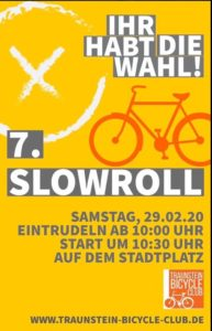 slow roll-Traunstein bicycle Club @ Traunstein