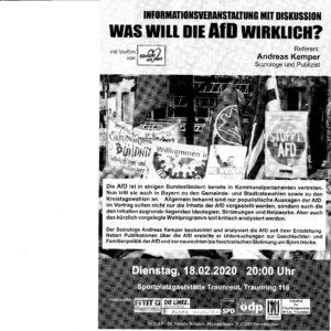 Was will die AFD wirklich? Informationsveranstaltung mit Diskussion @ Traunnreuth