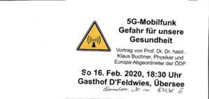 5G-Mobilfung Gefahr für unsere Gesundheit @ Übersee